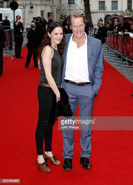 Iain Glen Charlotte Emmerson attend the UK premiere of Eye In The Sky at the Curzon Mayfair on April 11 2016 in London United Kingdom