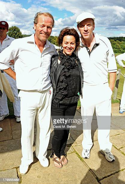 Iain Glen, Helen McCrory and Damian Lewis attend the first ever 'Words For Wickets' festival, featuring teams made up of authors and actors, at The...