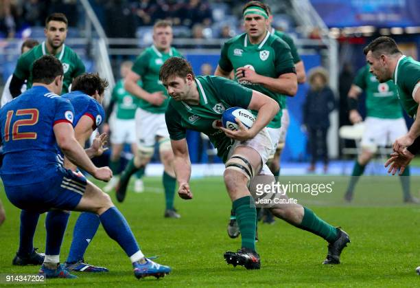 Iain Henderson of Ireland during the NatWest 6 Nations match between France and Ireland at Stade de France on February 3 2018 in SaintDenis near...