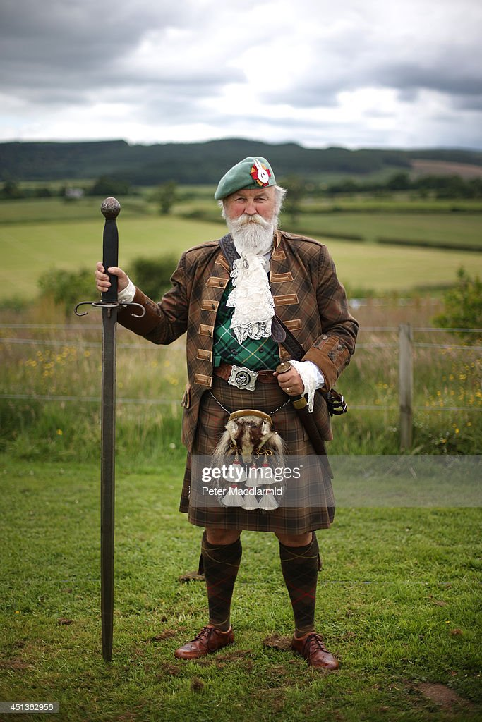 Iain Maciver of Strathendry poses for a photograph at the Bannockburn Live event on June 28, 2014 in Stirling, Scotland. The 700th anniversary of the historic battle that saw the outnumbered Scots conquer the English led by Edward II in the First War of Scottish Independence.