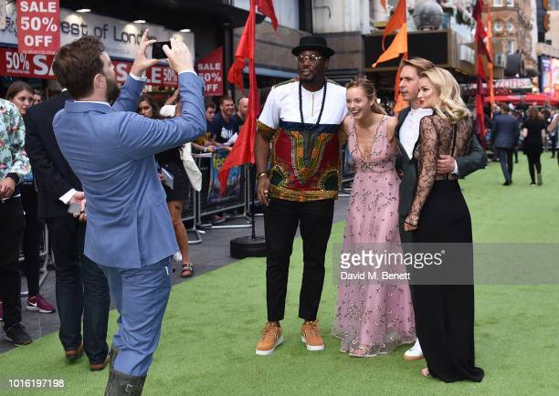 Iain Morris Hammed Animashaun Hannah Tointon Joe Thomas and Emma Rigby attend the World Premiere of 'The Festival' at Cineworld Leicester Square on...
