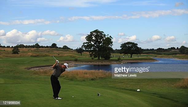 Iain Naylor of Nizels Golf and Counrty Club tees off on the 8th hole during the PGA ProCaptain Challenge Regional Qualifier at The Oxfordshire Resort...