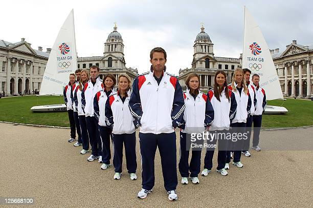 Iain Percy Annie Lush Nick Dempsey Lucy Macgregor Hannah Mills Ben Ainslie Kate Macgregor Bryony Shaw Saskia Clark and Andrew Simpson of Great...