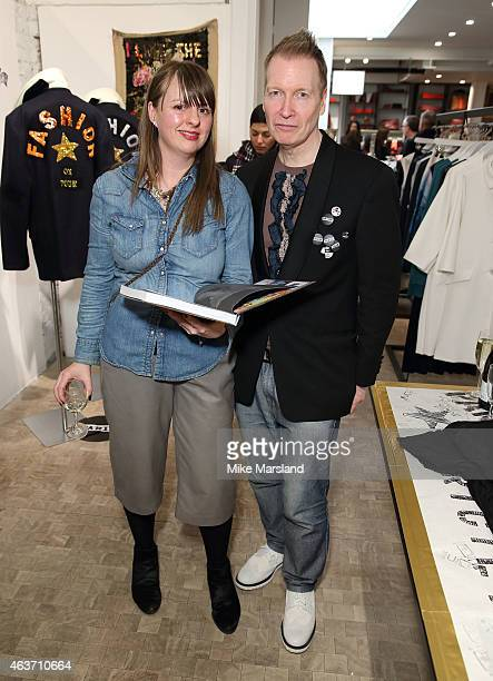 Iain R Webb and Alison Bishop attend the The Launch Of Iain R Webb's 'Invitation Strictly Personal 40 Years Of Fashion Show Invites' hosted by Jigsaw...