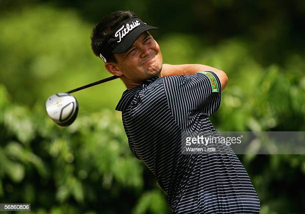 Iain Steel of Malaysia tees off on the sixth hole during the first round of the Maybank Malaysian Open 2006 at Kuala Lumpur Golf and Country Club on...