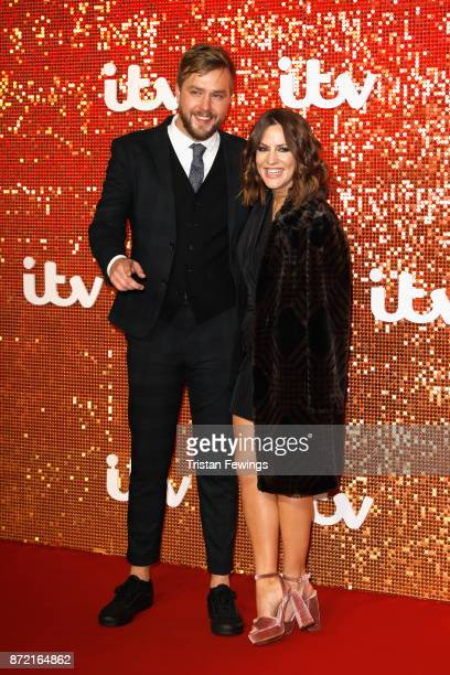 Iain Stirling and Caroline Flack arriving at the ITV Gala held at the London Palladium on November 9 2017 in London England