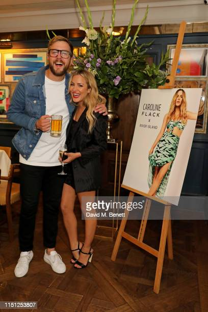Iain Stirling and Caroline Flack attend a VIP dinner hosted by Caroline Flack to celebrate the launch of her second collection with River Island at...