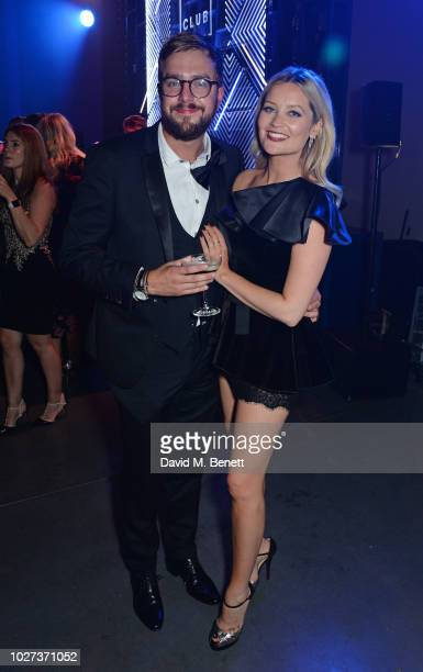 Iain Stirling and Laura Whitmore attend the GQ Men of the Year Awards 2018 in association with HUGO BOSS at Tate Modern on September 5 2018 in London...