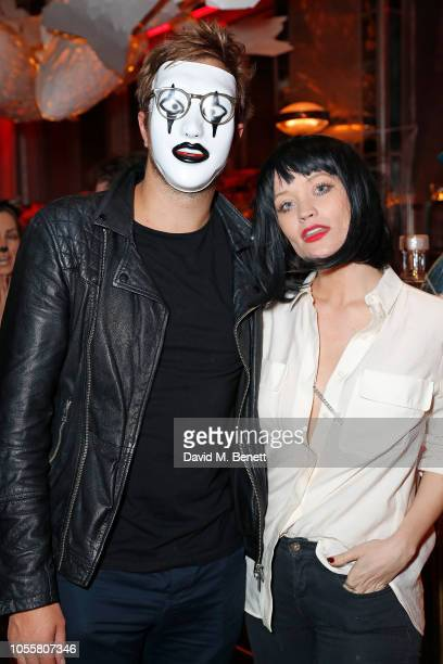 Iain Stirling and Laura Whitmore attend the Sexy Fish Halloween Party at Sexy Fish on October 31 2018 in London England