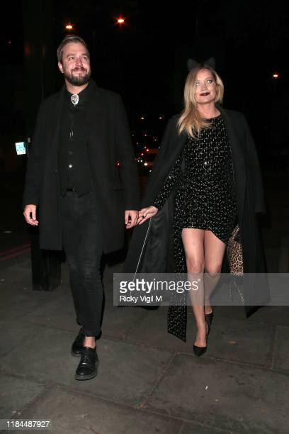 Iain Stirling and Laura Witmore seen attending UNICEF Halloween Ball event at One Marylebone on October 30 2019 in London England