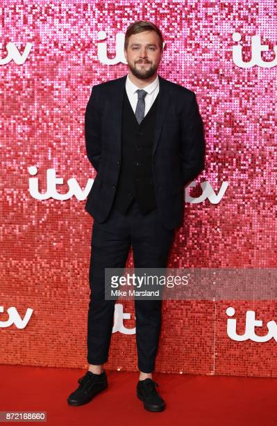 Iain Stirling arrives at the ITV Gala held at the London Palladium on November 9 2017 in London England