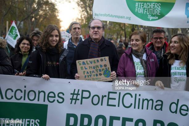 Iñaki Gabilondo, spokesperson for the PSOE at the Madrid Assembly takes part during the demonstration. Thousands of people from all over Europe...