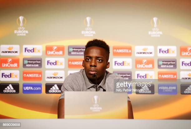 Iñaki Williams of Athletic Bilbao during a press conference ahead of the UEFA Europa League group J match between Athletic Bilbao and Ostersunds FK...