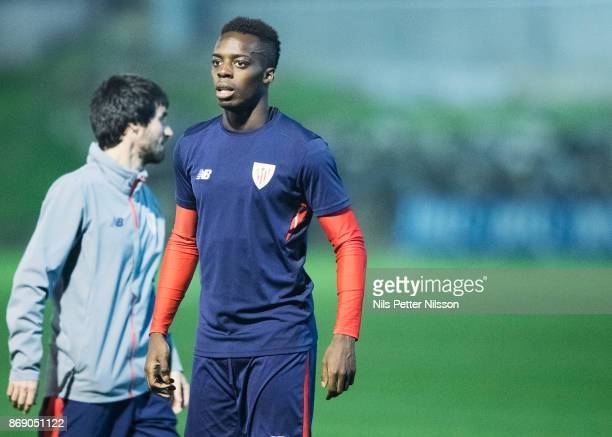 Iñaki Williams of Athletic Bilbao during training ahead of the UEFA Europa League group J match between Athletic Bilbao and Ostersunds FK at Lezema...