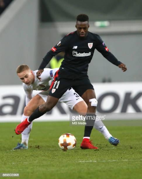 Iñaki Williams of Athletic Bilbao UEFA Europa League Group J match between Zorya Luhansk and Athletic Bilbao at Arena Lviv in Lviv Ukraine December...