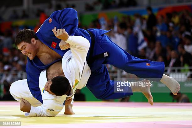 Iakiv Khammo of Ukraine competes against Iurii Krakovetskii of Kyrgyztan during the Men's 100kg Judo contest on Day 7 of the Rio 2016 Olympic Games...