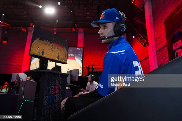 iamadamthe1st of Team Adam plays against Team oFab during the NBA 2K League Showcase on July 26 2018 at the NBA 2K Studio in Long Island City New...