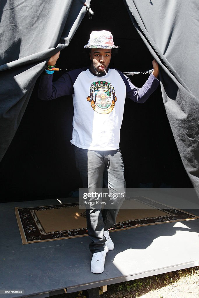 Iamsu! poses for a portrait backstage at Fader Fort presented by Converse during SXSW on March 14, 2013 in Austin, Texas.