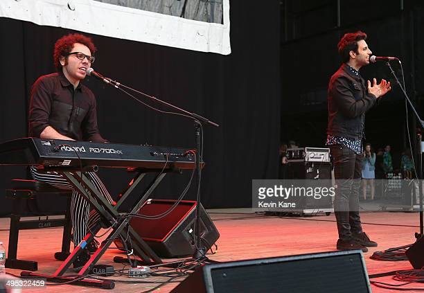 Ian Alex and Chad Vaccarino of A Great Big World perform during BLI Summer Jam 2014 at Nikon at Jones Beach Theater on June 1 2014 in Wantagh New York