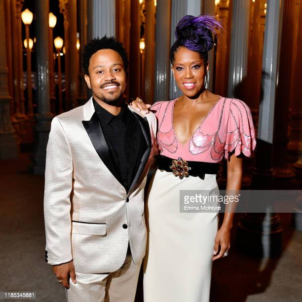 Ian Alexander Sr. And Regina King, wearing Gucci, attend the 2019 LACMA Art + Film Gala Presented By Gucci at LACMA on November 02, 2019 in Los...