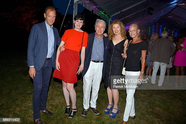 Ian Alteveer Beatrice Galilee Herbet Kasper April Gornik and Linda Lindenbaum attend the Guild Hall Summer Gala at Guild Hall on August 12 2016 in...