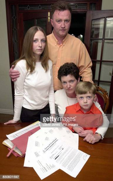 Ian and Bev Vernon with their children Ceri and Liam who are planning a High Court challenge to the General Medical Council's decision that it cannot...