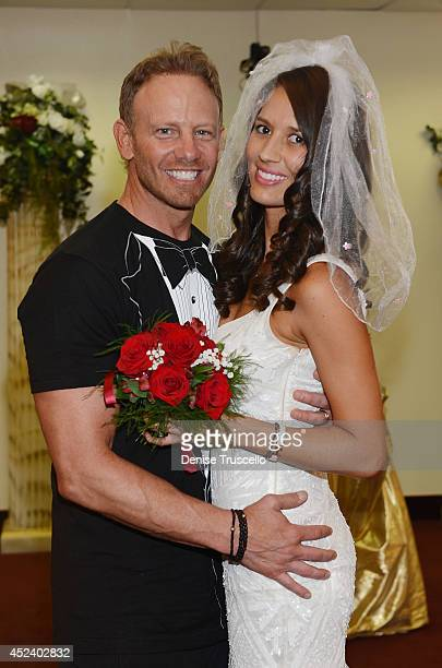 Ian and Erin Ziering during their marriage vow renewal ceremony to sanctify Ian's new ring after his original wedding ring was lost The ceremony took...