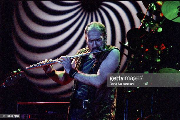 Ian Anderson of Jethro Tull during Jethro Tull Performs at the Gorge in George Washington September 27 1996 at The Gorge in George in George...