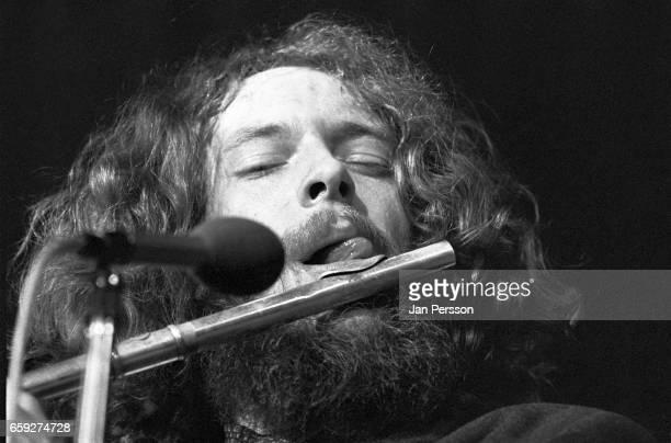 Ian Anderson of Jethro Tull performing in Copenhagen Denmark 1969