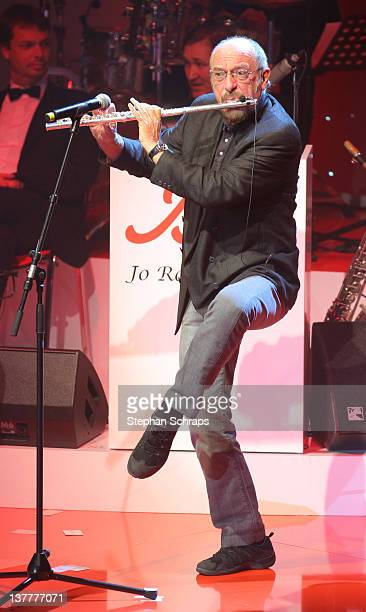 Ian Anderson of 'Jethro Tull' performs at the award ceremony 'BZ Culture Awards' given in the AxelSpringer publishing house on January 26 2012 in...