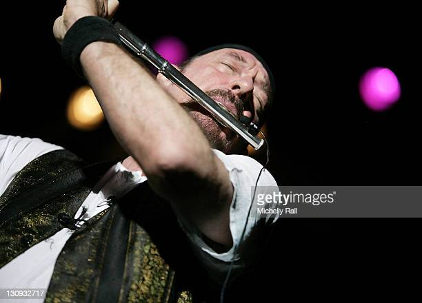 Ian Anderson of Jethro Tull performs at the Grand West Arena Grand West Casino November 7 2007 in Cape Town South Africa