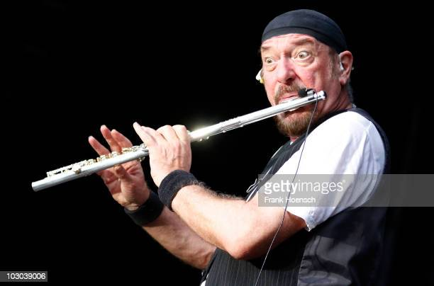 Ian Anderson of Jethro Tull performs live during a concert at the Zitadelle Spandau on July 22 2010 in Berlin Germany The concert is part of the...
