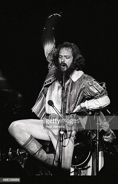 Ian Anderson of Jethro Tull performs on stage at Congresgebouw The Hague Netherlands 15th March 1980