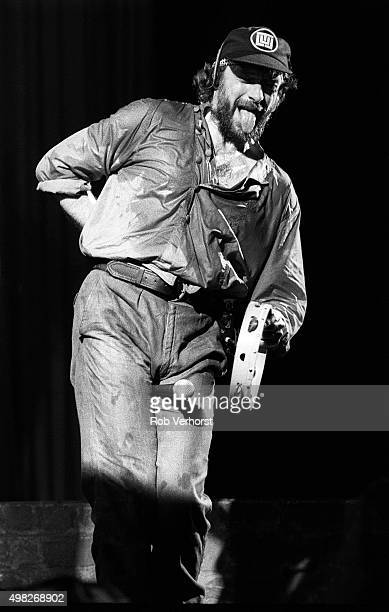 Ian Anderson of Jethro Tull performs on stage at Congresgebouw The Hague Netherlands 24th September 1984