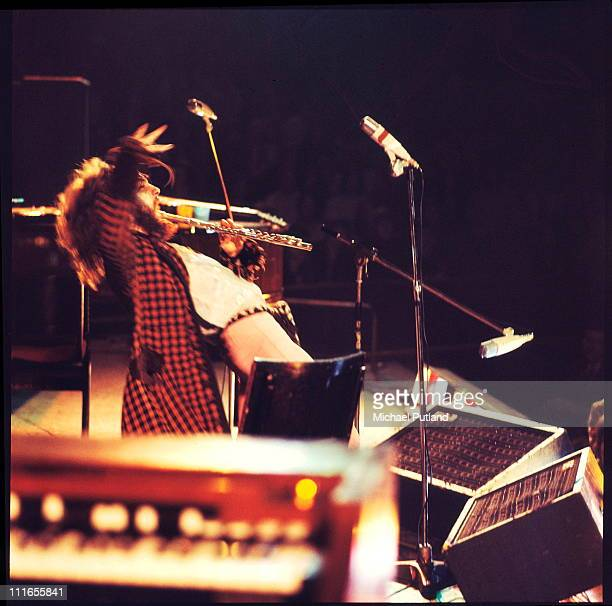 Ian Anderson of Jethro Tull performs on stage at the Royal Albert Hall London 13th October 1970