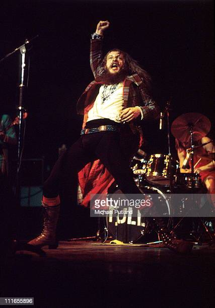 Ian Anderson of Jethro Tull performs on stage at the Royal Albert Hall London 21st March 1972