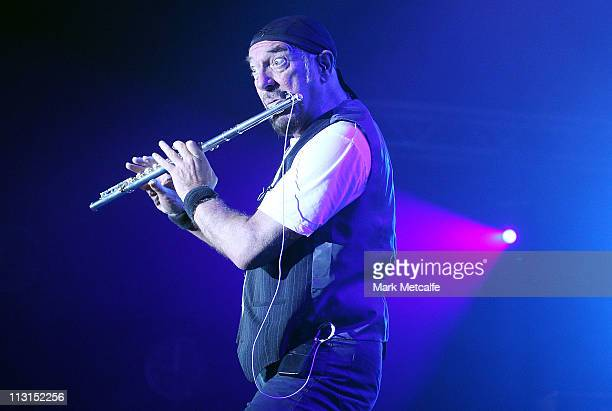 Ian Anderson of Jethro Tull performs on stage during day five of the Bluesfest Music Festival at Tyagarah Tea Tree Farm on April 25 2011 in Byron Bay...