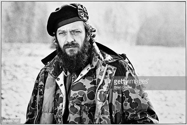 Ian Anderson of Jethro Tull posing on Beachy Head during the making of a promotional film for the band's album Slipstream on 8th April 1981