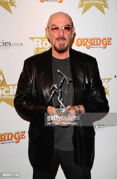Ian Anderson of Jethro Tull wins the Spirit of Prog award award at the Classic Rock Roll Of Honour at the Roundhouse in London