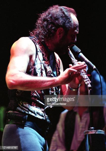 Ian Anderson of the Jethro Tull performs at the San Francisco Civic Center on December 17 1991 in San Francisco California