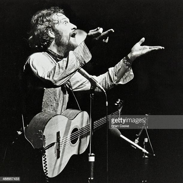 Ian Anderson performing with Jethro Tull in the BBC television studio at the Golders Green Hippodrome in North London on the 10th February 1977