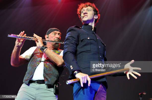 Ian Anderson performs on stage during his Thick As A Brick Tour at Royal Albert Hall on June 30 2013 in London England