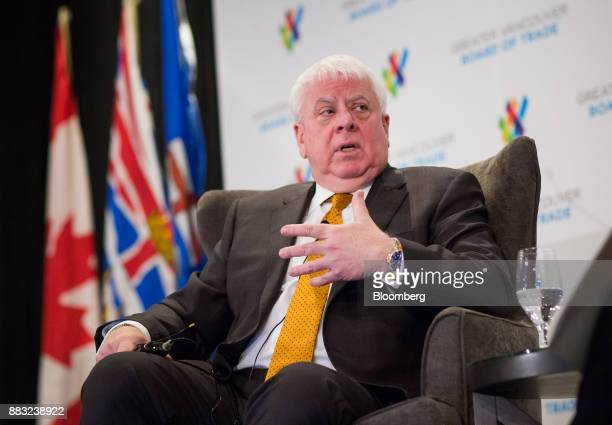 Ian Anderson president of Kinder Morgan Canada Ltd speaks during the Greater Vancouver Board of Trade's annual Energy Forum in Vancouver British...