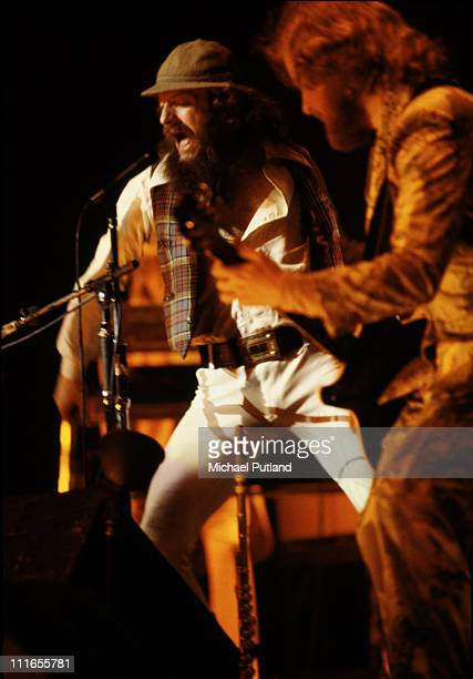 Ian AndersonMartin Barre of Jethro Tull perform on stage at Madison Square Garden New York October 1978
