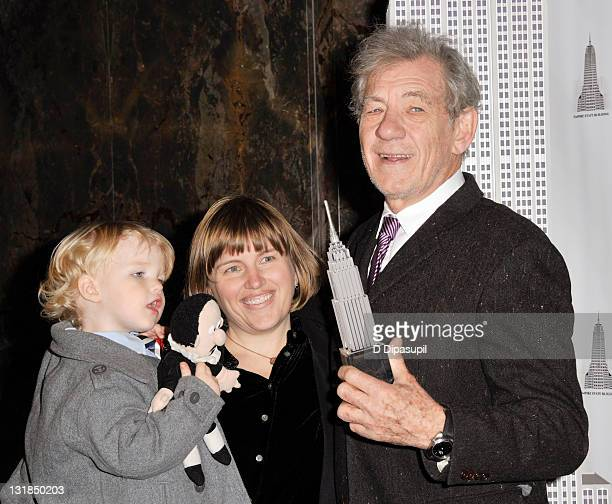 Ian Armitage Lee Armitage and actor Sir Ian McKellen visit The Empire State Building on November 1 2010 in New York City