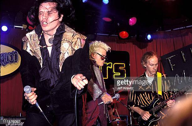 Ian Astbury and Billy Idol perform with Robby Krieger of The Doors