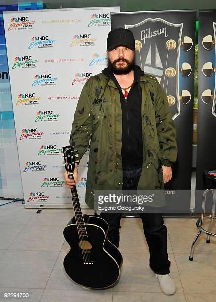 Ian Astbury performs at the NBC Experience Store on October 22 2009 in New York City