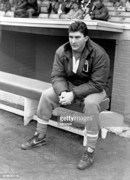 Ian Atkins Birmingham City Assistant Manager pictured in dugout before match at St Andrews Saturday 11th January 1992