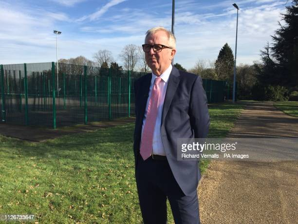 Ian Austin in Priory Park Dudley talking to the media following his decision to quit the Labour Party