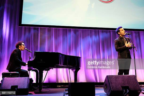 Ian Axel and Chad King of A Great Big World perform at Operation Smile's 14th Annual Smile Gala At Cipriani 42nd St on May 12 2016 in New York City